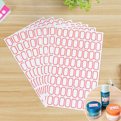 10 Sheets White Sticker Self Adhesive Labels Name Tags Price Sticker Officehv