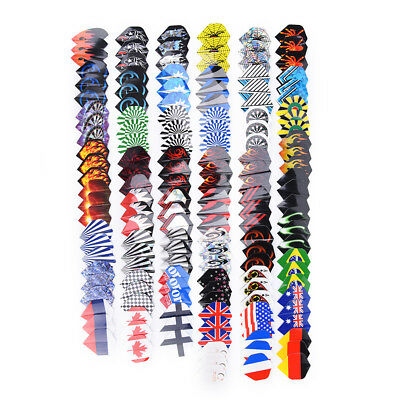 150X Lot Dart Flights In 50 Kinds Of Patterns Rare Darts Fin Feather Accessoryjh