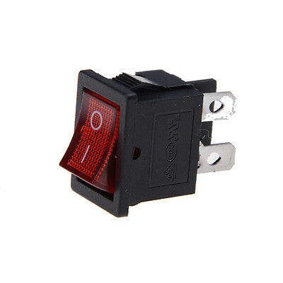 5pcs Led Spst 4pin Onoff Boat Rocker Switch 6a250v 10a125v Car Dash Red Q9