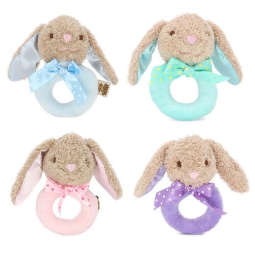 Baby Infant Rabbit Plush Rattle Ring Bell Toddler Musical So