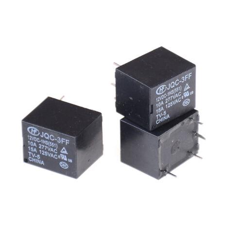 5Pcs 12VDC SRD-S-112DM 15A 125VAC 4Pins Coil Power Relay IJ