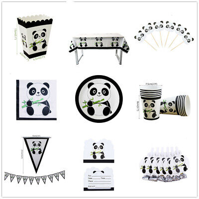 NEW Panda Theme Favor Kids Birthday Party Supplies Decorations Tableware Cup - Panda Birthday Party Supplies