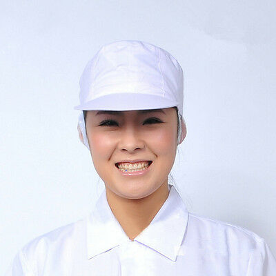 Elastic Poly Cotton Catering Baker Kitchen Cook Chef White.Hat Costume Snood Hat](Costume Chef Hat)
