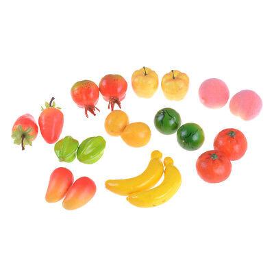 10pcs viele Arten von Obst Miniatur Puppenhaus Küche Dekor handgefertigt AB
