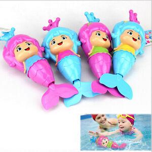 Baby Kid Mermaid Clockwork Dabbling Bath Toy Classic Swimming Water Wind Up JL