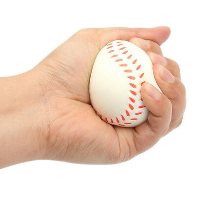Baseball Hand Wrist Exercise Stress Relief Relaxation Squeeze Soft Foam Ball 7H