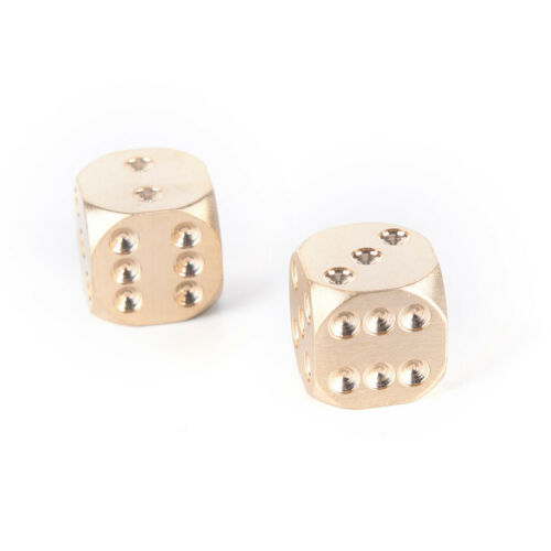 1Pc 13mm Pure Copper Solid Dice Manual Grinding Bar Creative Dice Toys Gamh3