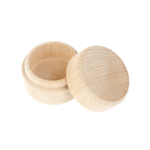 Details About Round Wooden Wedding Ring Jewelry Trinket Box Wood Storage Container Case P Dfi
