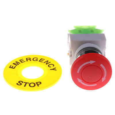 Red Mushroom Cap 1no 1nc Dpds Emergency Stop Push Button Switch Ac 660v 10a Se