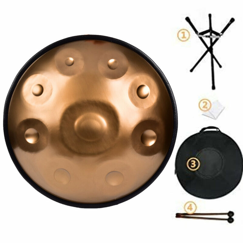 9 Notes D Minor Hand Pan Drum Handpan Stainless Steel Tongue Musical