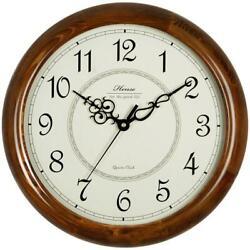 Hense 14-Inch Large Wood Wall Clock Retro Vintage Style Decorative Clocks
