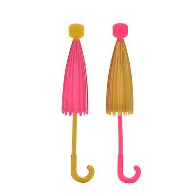 2 Pcslot Doll Accessories Handmade Doll39s Plastic Umbrella For Barbie DollsSLUS