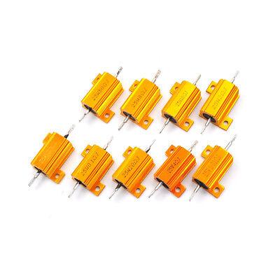 25 Watt Power 0.01-100 Ohm 5 Aluminum Casing Wire Wound Resistor Jb