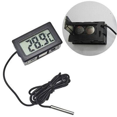 LCD Digital Temperature Humidity Thermometer Outdoor Hygrometer Meter w/Probe IU