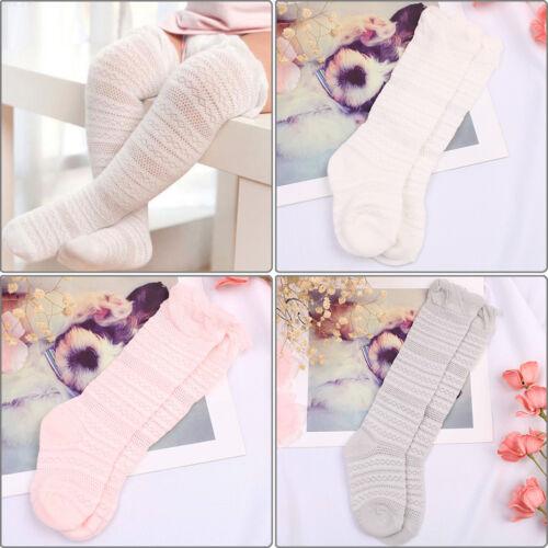 Toddler baby boys girls knee high lace long sock kids infant