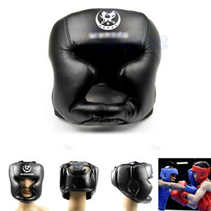 BK Headgear Head Guard Training Kick Boxing Protector Sparring Gear Face Helmet