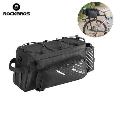 RockBros Mountain Bike Bicycle Black Rear Rack Pack Bag Large Capacity