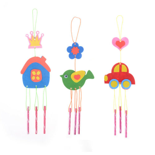 Kids DIY Puzzle Toys for Kids Wind Chime Manual Crafts Hangi
