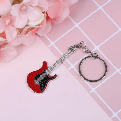 Llavero Guitarra electrica roja coche moto metalizado coche moto llaves mochila
