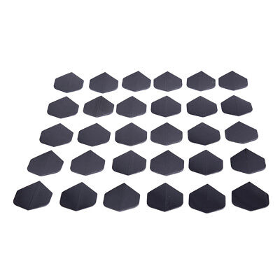 30 Pcs/lot High Quality Simple Pure Black Dart Flights for Outdoor Sports CH