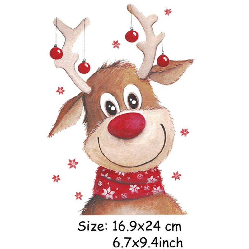 Christmas Patchesclothing T-shirt Dresses Diy Decor Iron-on Appliquestransfer XR - $8.68