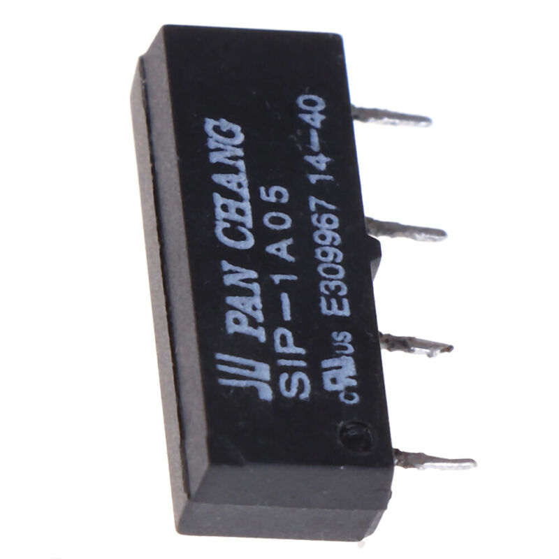 5PCS 4PIN 5V Relay SIP-1A05 Reed Switch Relay For PAN CHANG Relay  T2P