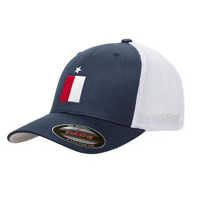 Navy Texas Flag Mesh Flexfit Premium Yupoong Adult Retro Tru