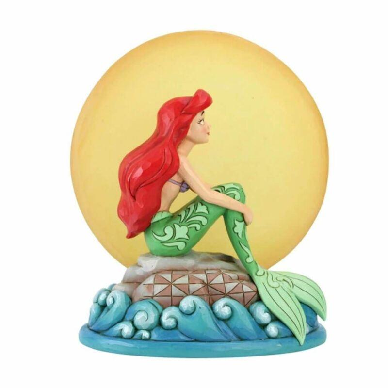 Disney Petite Sirène Par Moonlight Ariel Light Up Moon Figurine - Emballé