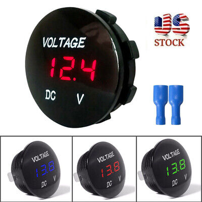 Dc 12v-24v Led Panel Digital Display Voltage Voltmeter Meter Car Motorcycle Boat