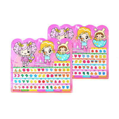 1Sheet Colorful Kid Crystal Stick Earring Sticker Kids Jewellery Party Toy Gift