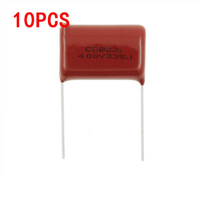 10pcs 335j 400v 3.3uf 5 Dark Red Metallized Polyester Film Capacitor
