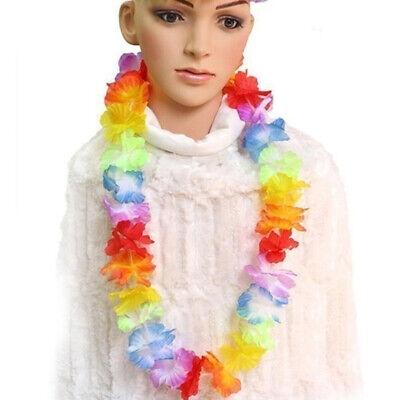 Hawaiian artificial Garland Colorful Flower Leis Fancy Dress Partysupplies - Artificial Leis