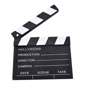 1 Pcs Movie Clapper Clapperboard Prop Chalk Board Film Cut Prop Promotion