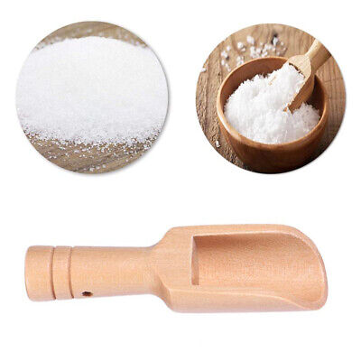 3pcs Mini Wooden Scoops Badesalz Löffel Candy Mehl Löffel Küchenutensi CBL