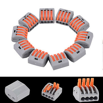 Pct-214 Terminal Block Hard Conductor Square Junction Box 4-hole Wire Connectov