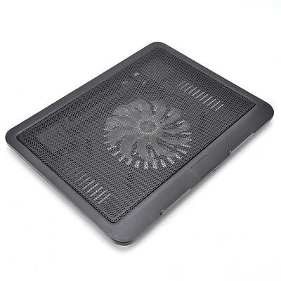 "Laptop Cooler Cooling Pad Base Big Fan USB Stand for 14"" LED Light Notebook JT"