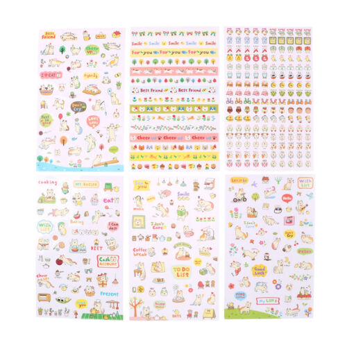 3Sheets cute Cats Animals Scrapbooking Bubble Puffy Stickers Reward Kids Toys/_C
