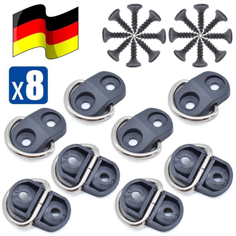 8x Kofferraum Umschlag Gepäcknetz Binden Haken Halter Ring Befestigungen Clips