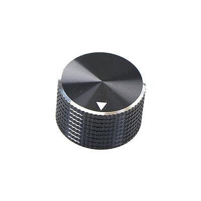 (Dia Black Aluminum Rotary Control Potentiometer Knob 25mm x 15.5mm S*)