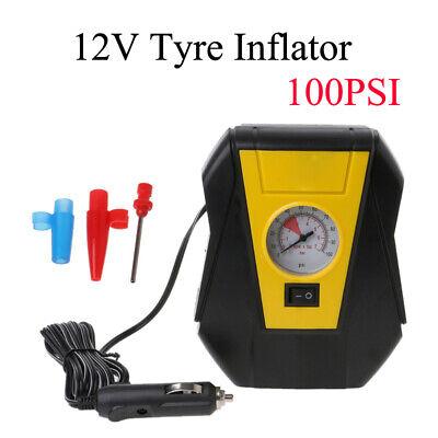 Coche Moto Inflador de neumáticos Compresor de aire Bomba eléctrica 100PSI 12V
