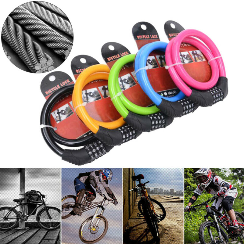 Cute Color Cycling Security 4 Digit Combination Bike Bicycle