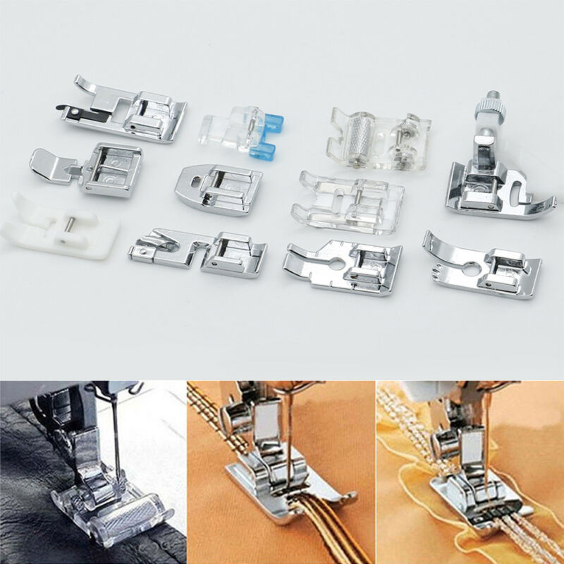 11Pcs Multi Function Domestic Sewing Machine Presser Foot Feet Accessories Set