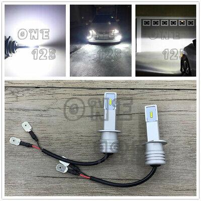 H1 6000K Super Bright White 6000LM CSP LED Headlight Bulb Kit High Low Beam DRL