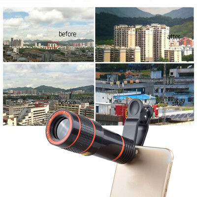 Clip-on 12x Optical Zoom HD Telescope Camera Lens For Universal Mobile Phone PRR