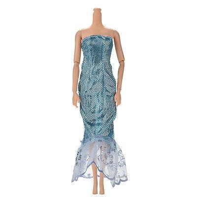Kleider Für Himmel (Mode Pailletten Himmelblau Meerjungfrau Kleid für 11