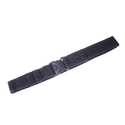 Black Heavy Duty Security Guard Police Utility Nylon Belt Waistband Supplies Ap