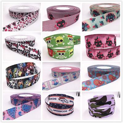Wholesale Skeletons (Wholesale! 1-10yds 1'' (25mm) Skeleton printed grosgrain ribbon Hair bow sewing)