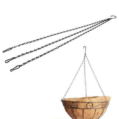 55cm Weight-bearing  Iron Plant/Flower Basket Holder Hanging Chain Hook ZN