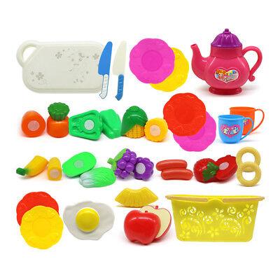 26x Lebensmittel Sets Plastik Schneiden Zubehör Kinderküche Spielküche Kaufladen