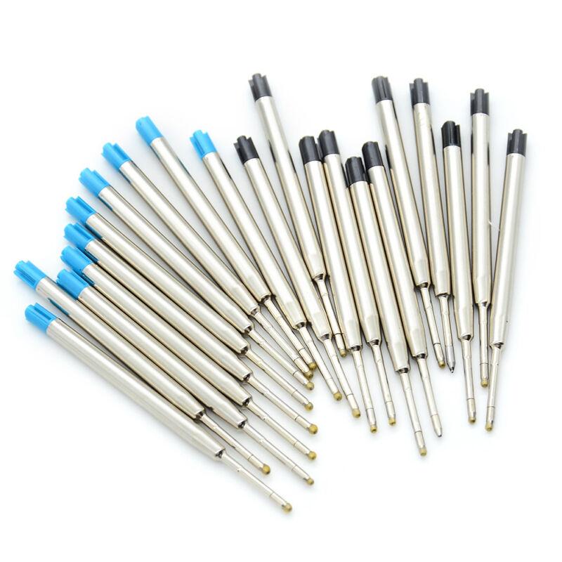 10 Pcs blue ink parker style standard 1.0mm ballpoint pen refills nib medium RF